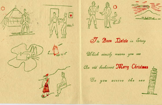 34th Division Christmas Card, Christmas 1944 (private coll.)